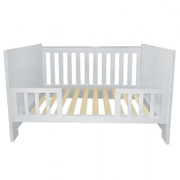 baby bed converts into a toddler bed and lounge