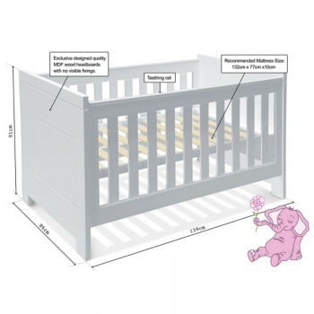 bassinet level of Aquila baby cot