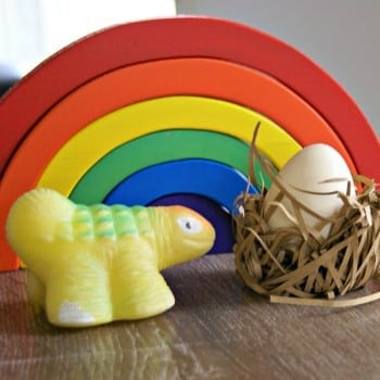dinosaur egg toy children can hatch and grow.