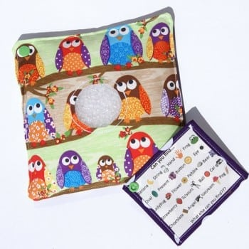 eye spy bag, i spy bags or treasure backs are fabulous for developing literacy and fine motor skills
