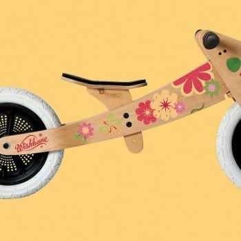 flower stickers wishbone bike. Personalise your child's bike to suit his or her personality.