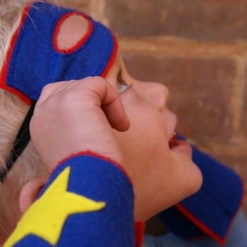 kids personalise superhero costumers are fabulous for pretend play, dress up days and sporting fans
