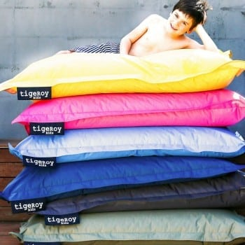 outdoor bean bag and indoors. The hardest choice is which colour to purchase.