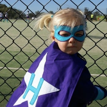 personalised superhero cape and costume for your little superhero