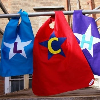 personalised superhero capes are styled to suit your little or big superhero