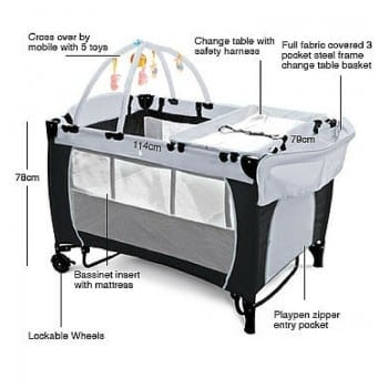 portable travel cot sleep soundly and take the comforts of home with you