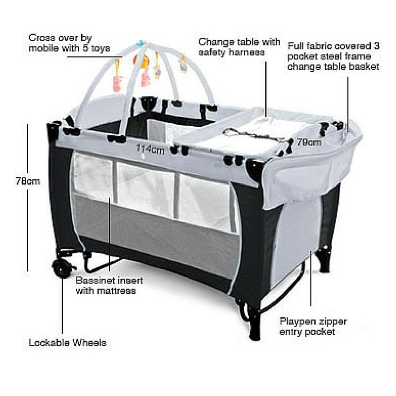 Travel Cot With Zip Side Lifehacked1st Com