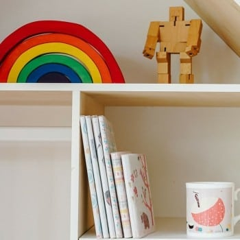 rainbow blocks make awesome decor and toys