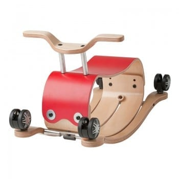 rocking toys red is also a ride on and push toy. A fabulous present for first birthday or first Christmas
