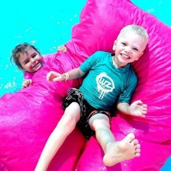 waterproof beanbag poolside. What more could we ask for.
