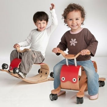 wishbone flip can be used as a ride on, rocker or push toy from 1-5 years