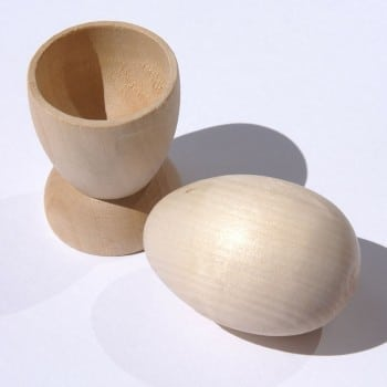 wooden egg and cup montessori