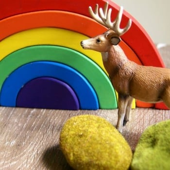 wooden rainbow toy is a fabulous open ended toy