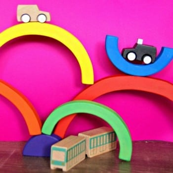 wooden toy rainbow for the ultimate play