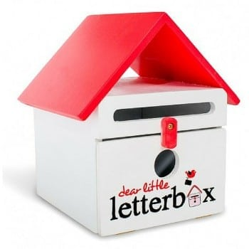 dear little letterbox red is an ideal post box for christmas letters to Santa and loved ones. Spread the joy and love.