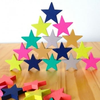 wooden stacking toys can be challenging. Create your own challenges with Kiko tanabata star dominos