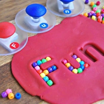 lowercase alphabet stamps are brilliant for learning letters and words. Use them in paint, ink, Kinetic sand or playdough to identify letters, match upper and lowercase letters, learn initial, middle and final sounds and so much more.