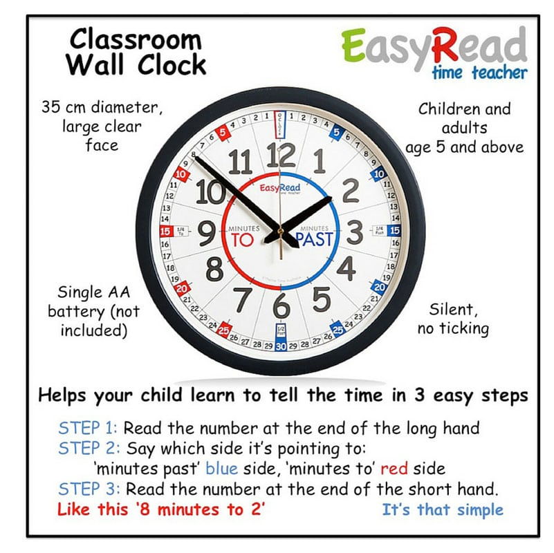 Easyread Time Teacher Kids Clock