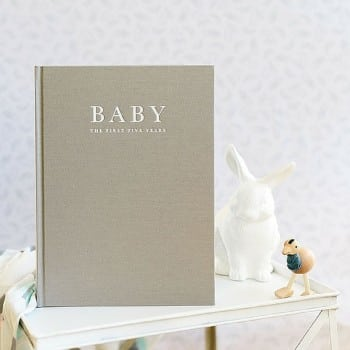 baby keepsake record book that will hold all your treasured memories for the first 5 years