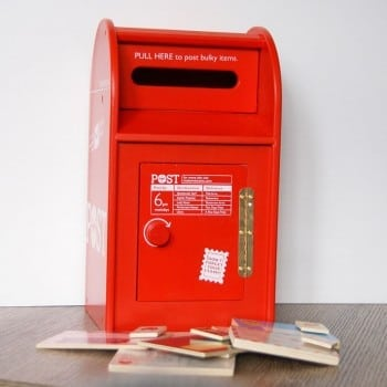 iconic post box for kids to explore reading and writing and the art of letters