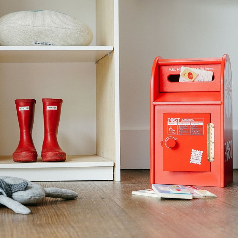 Iconic Red Kids Post Box From Sweet Elephants