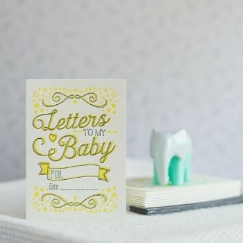 letters to my baby. A beautiful gift to give at a baby shower or birth.