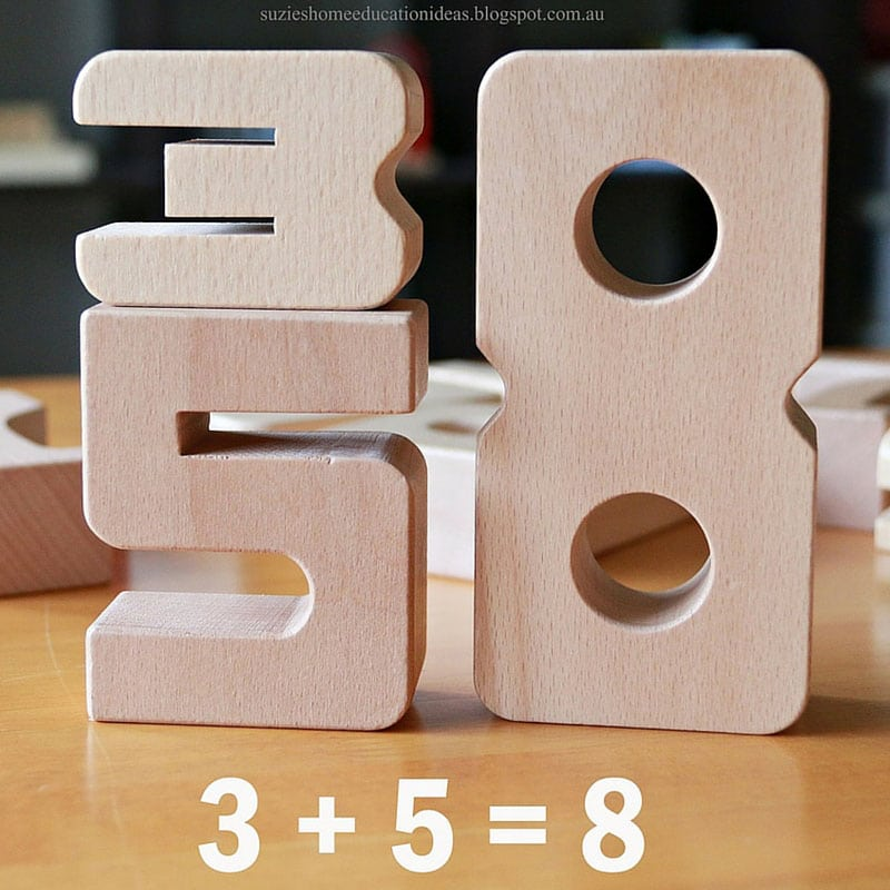 Function One Of The Five Building Blocks Of Kitchen: Sumblox Wooden Number Blocks For Building Kids Math Ideas