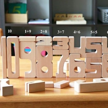 sumblox are wooden blocks that assist with maths. If the numbers add up, so will the heights