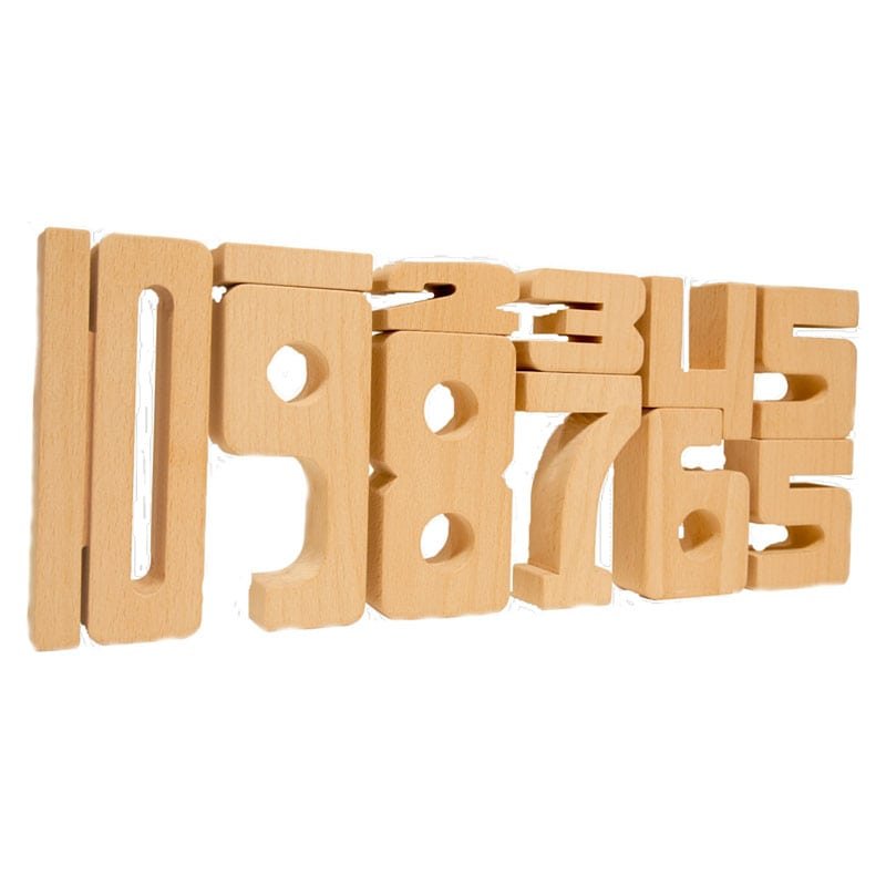 Sumblox Wooden Number Blocks for Building Kids Math Ideas