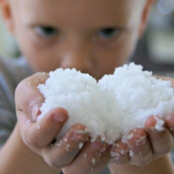 polymer powder is fabulous fake snow for kids to play with