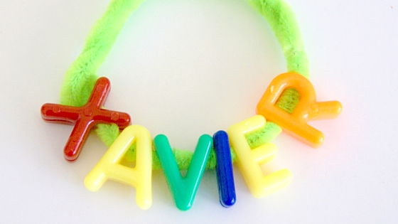 make your own name with a bracelet make great name recognition activities.