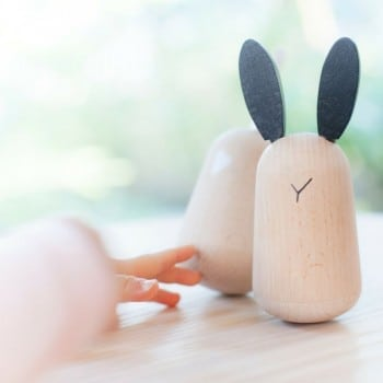 musical toys push and rock these gorgeous musical rabbits to hear their magical, soothing chimes