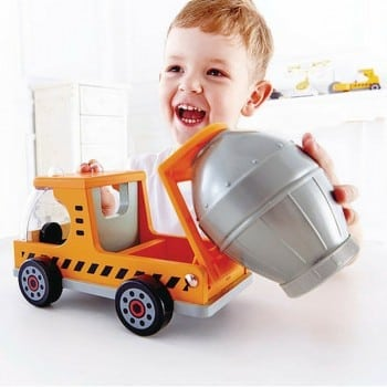 toy cement mixer truck is ideal for little hands