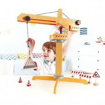 toy crane lift hape is ideal for kids that love construction
