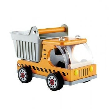 toy dumper truck allows you to pick up and drop all your building materials