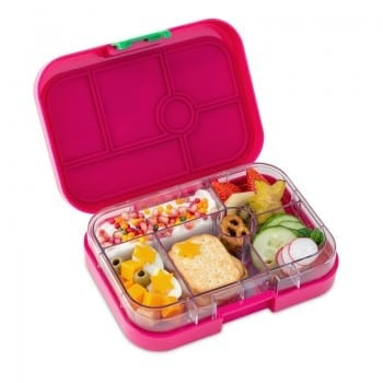 yumbox original has 6 compartments to store healthy balanced lunches