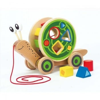 hape shape sorter teaches spatial and colour recognition