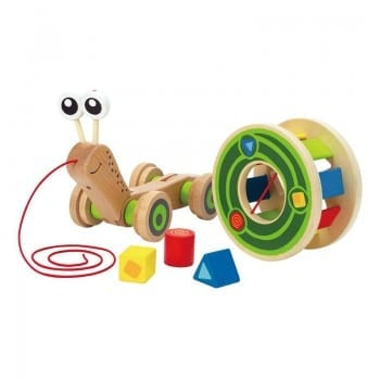pull along shape sorter snail is ideal for a baby gift