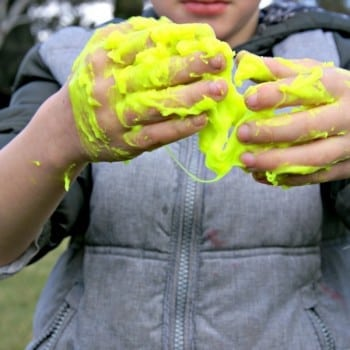 slime putty from heebie jeebies is an awesome science experiment. It comes in pink, blue, green and yellow.