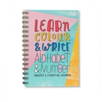 alphabet and number writing journal write to me helps kids to learn how to write the ABC and 123s