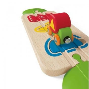 kids wooden train set by hape is a must have educational toy