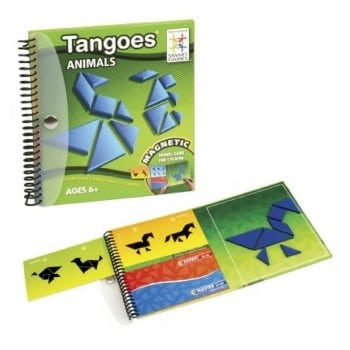 magnetic tangram travel game for kids. Tangoes animals by smart games