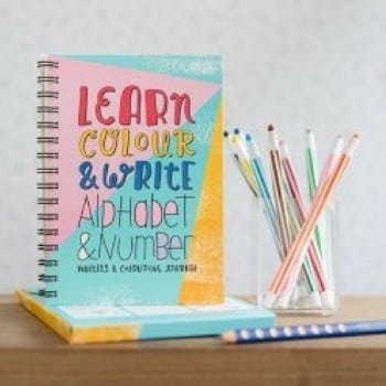 writing journal that helps kids learn how to correctly form letters and numbers