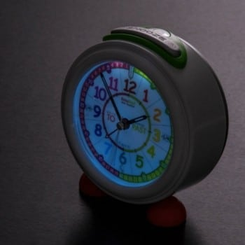 easyread time teacher alarm clock will automatically glow as darkness approaches