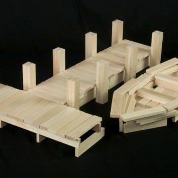keva blocks can be used to build structures, bridges, ball runs and so much more