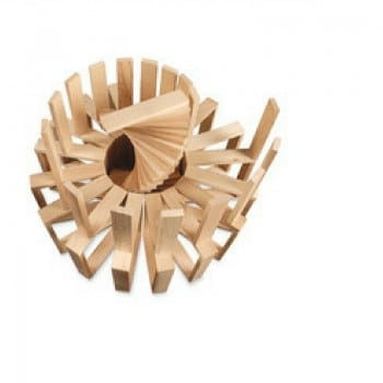 wooden block planks keva can make incredible structures such as ball runs, spirals, buildings and bridges