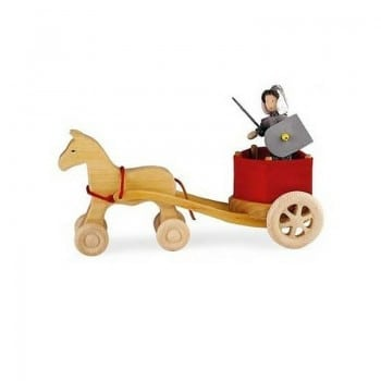 grimms horse with wheels is an awesome wooden toy for pretend play