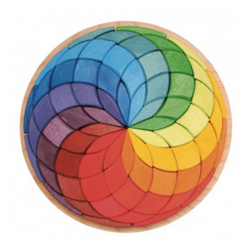 grimms mandala puzzle large spiral is a gorgeous wooden toy igniting creativity and fun