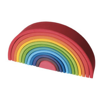 grimms rainbow large is a super popular wooden toy for all ages