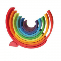 grimms wooden rainbow puzzle